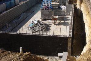 retaining small wall
