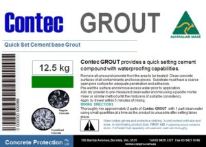 contec-grout-lable