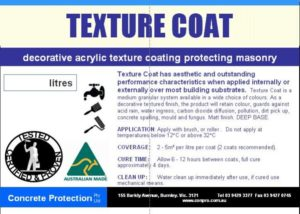 Texture Coat - Decorative acrylic textured coating protecting masonry