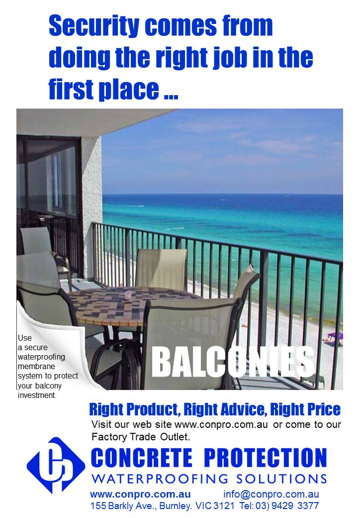 Balconies Concrete Protection