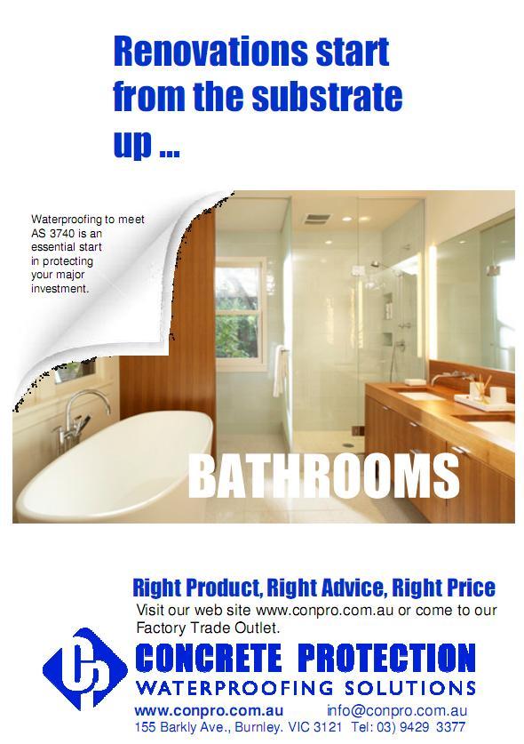 Bathrooms leakage solutions