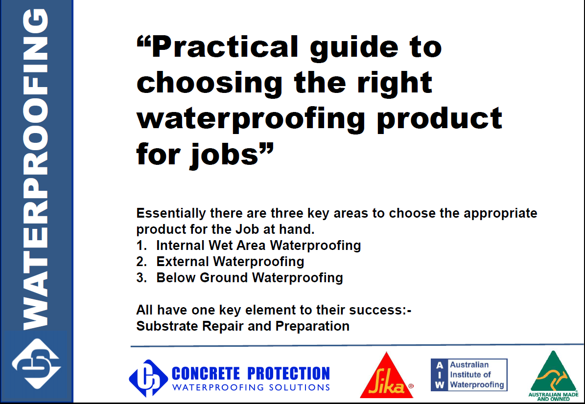 Practical guide to choosing the right waterproofing product